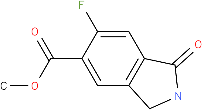 6-FLUORO-1-OXO-2,3-DIHYDRO-1H-ISOINDOLE-5-CARBOXYLIC ACID METHYL ESTER