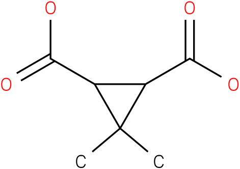 3,3-dimethylcyclopropane-1,2-dicarboxylic acid