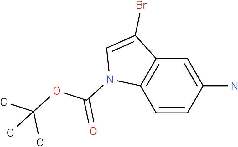 TERT-BUTYL 5-AMINO-3-BROMO-1H-INDOLE-1-CARBOXYLATE