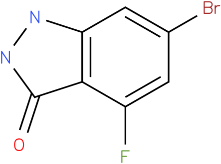 3H-INDAZOL-3-ONE,6-BROMO-4-FLUORO-1,2-DIHYDRO