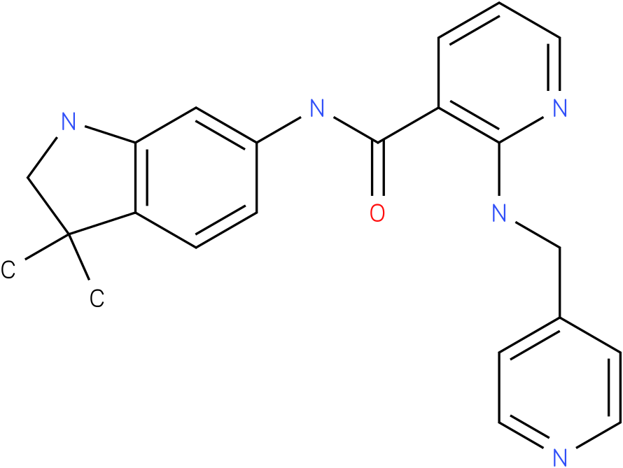 N-(3,3-dimethylindolin-6-yl)-2-(pyridin-4-ylmethylamino)nicotinamide