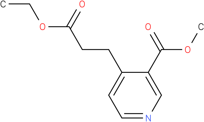 methyl 4-(3-ethoxy-3-oxopropyl)nicotinate