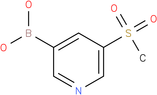 5-(METHYLSULFONYL)-3-PYRIDINEBORONIC ACID