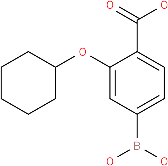 4-BORONO-2-(CYCLOHEXYLOXY)BENZOIC ACID