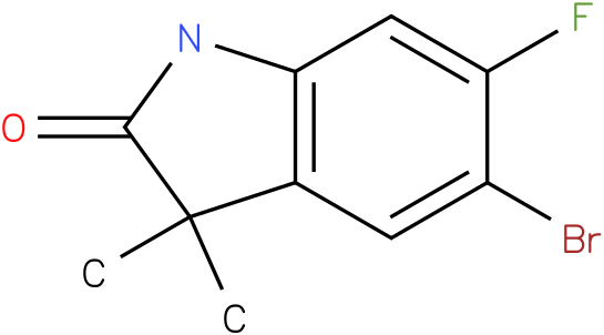 2H-INDOL-2-ONE, 5-BROMO-6-FLUORO-1,3-DIHYDRO-3,3-DIMETHYL-,