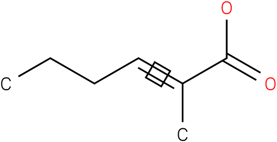 (E)-2-methylhex-2-enoic acid