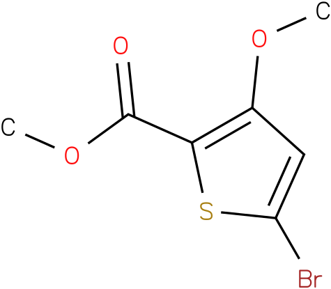 2-Thiophenecarboxylic acid, 5-bromo-3-methoxy-, methyl ester