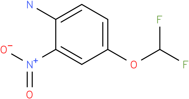 Benzenamine, 4-(difluoromethoxy)-2-nitro-