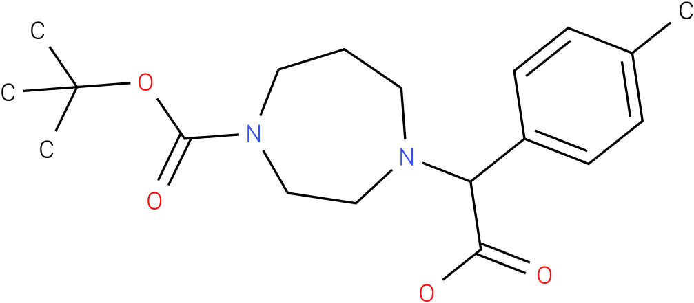 4-(carboxy-p-tolyl-methyl)-[1,4]diazepane-1-carboxylic acid tert-butyl ester