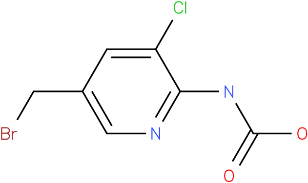 Carbamic acid,[5-(bromomethyl)-3-chloro-2-pyridnyl]-,1,1-dimethylethyl ester(9Cl)