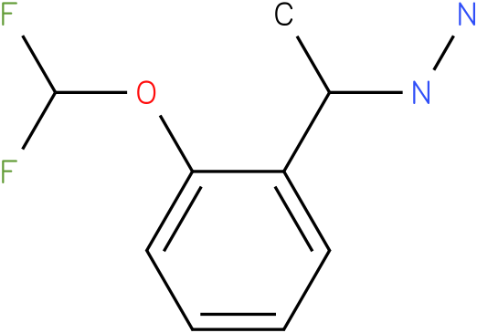 1-(1-[2-(DIFLUOROMETHOXY)PHENYL]ETHYL)HYDRAZINE