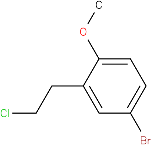 4-bromo-2-(2-chloroethyl)-1-methoxybenzene