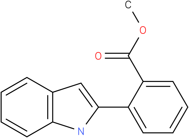 Benzoic acid,2-(1H-indol-2-yl)-,methyl ester
