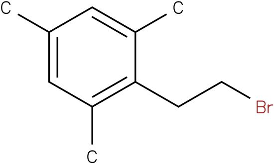 2-(2-bromoethyl)-1,3,5-trimethylbenzene