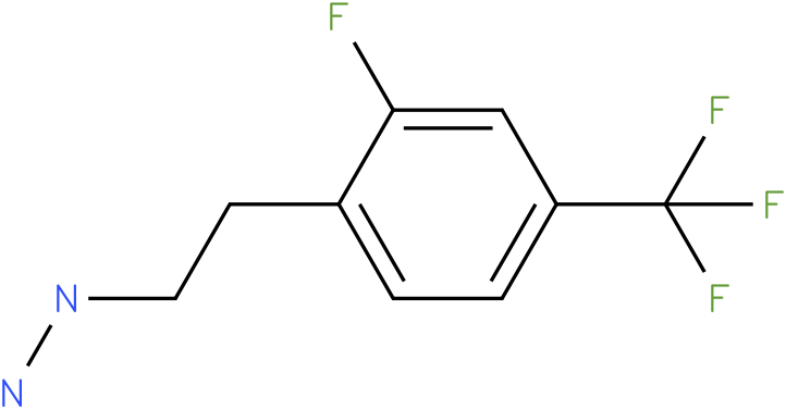 1-(2-fluoro-4-(trifluoromethyl)phenethyl)hydrazine