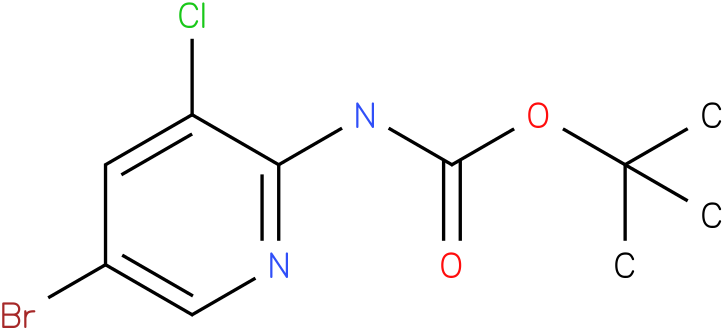 Carbamic acid,(5-bromo-3-chloro-2-pyridinyl)-,1,1-dimethylethyl ester (9Cl)