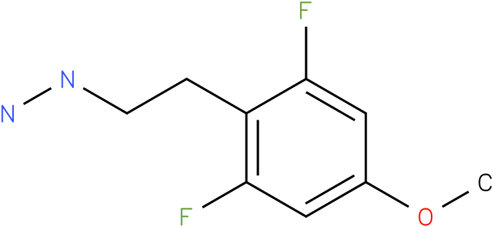1-(2,6-difluoro-4-methoxyphenethyl)hydrazine