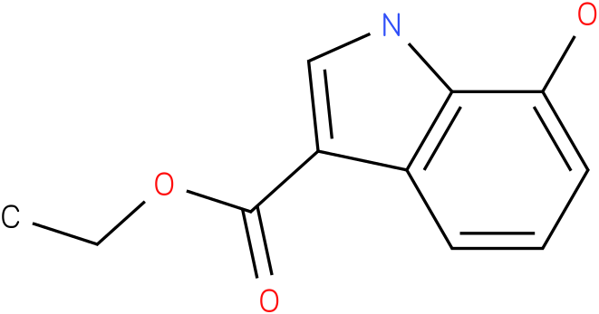 INDOLE-3-CARBOXYLIC ACID,7-HYDROXY-,ETHYL ESTER (8Cl)