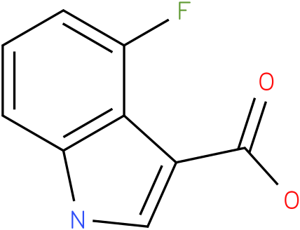 1H-INDOLE-3-CARBOXYLIC ACID,4-FLUORO-
