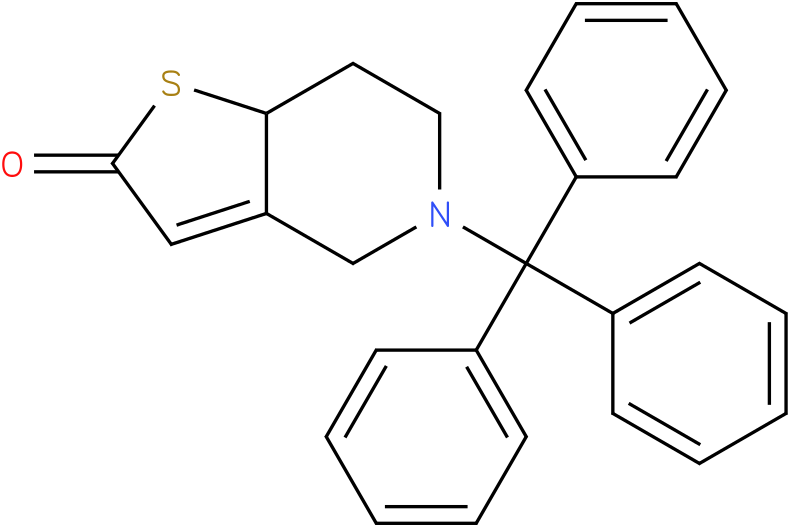 Chemical intermediate for Prasugrel;5,6,7,7a-Tetrahydro-5-(triphenylmethyl)thieno[3,2-c]pyridinone