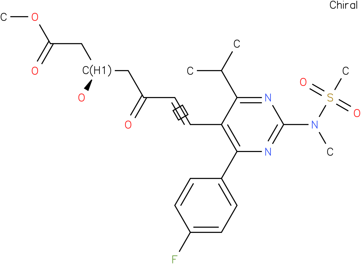 6-​Heptenoic acid, 7-​[4-​(4-​fluorophenyl)​-​6-​(1-​methylethyl)​-​2-​[methyl(methylsulfon​yl)​amino]​-​5-​pyrimidinyl]