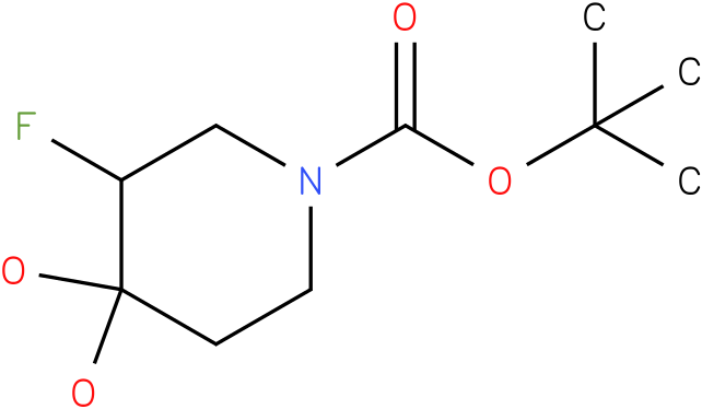 1-piperidinecarboxylic acid, 3-fluoro-4,4-dihydroxy-, 1,1-dimethylethyl ester