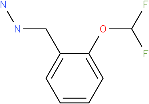 1-([2-(difluoromethoxy)phenyl]methyl)hydrazine