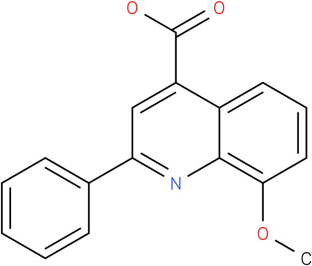 4-QUINOLINECARBOXYLIC ACID,8-METHOXY-2-PHENYL-
