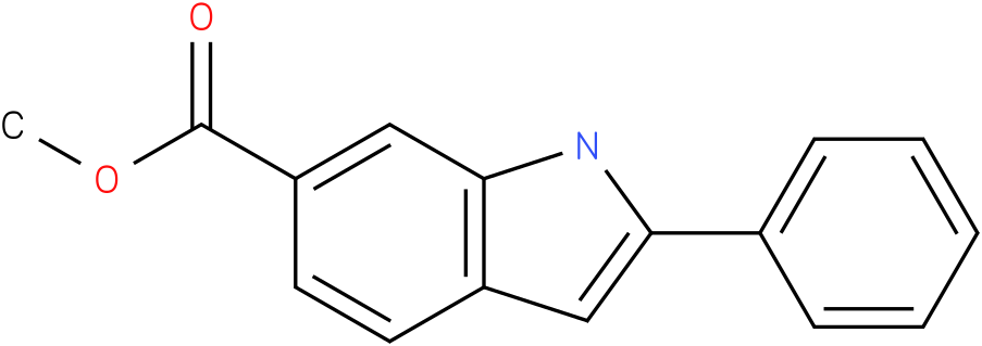 1H-indole-6-carboxylic acid,2-phenyl-,methyl ester