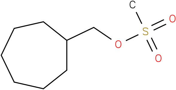 Cycloheptanemethanol,1-methansulfonate