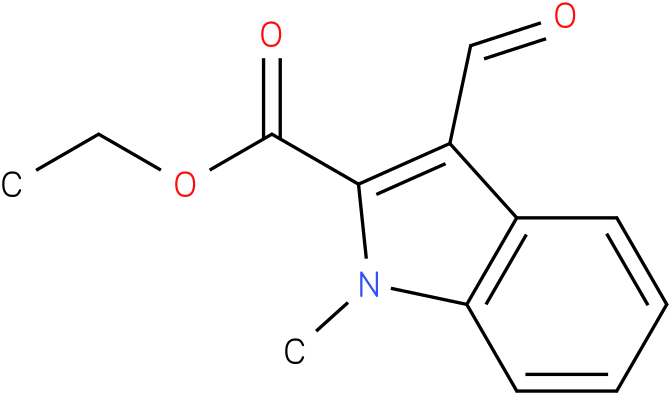 1H-INDOLE-2-CARBOXYLIC ACID,3-FORMYL-1-METHYL-,ETHYL ESTER