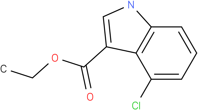 1H-INDOLE-3-CARBOXYLIC ACID,4-CHLORO-,ETHYL ESTER