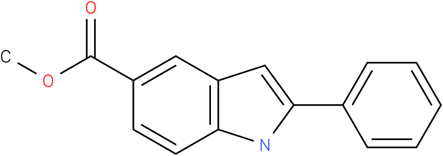 1H-indole-5-carboxylic acid,2-phenyl-,methyl ester