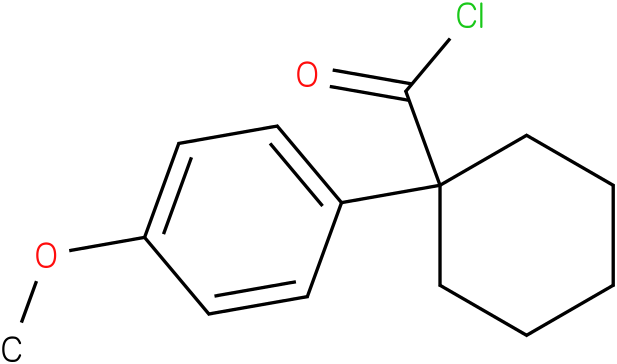 CYCLOHEXANECARBONYL CHLORIDE,1-(4-METHOXYPHENYL)-