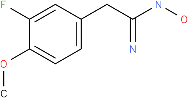 BENZENEETHANIMIDAMIDE,3-FLUORO-N-HYDROXY-4-METHOXY-