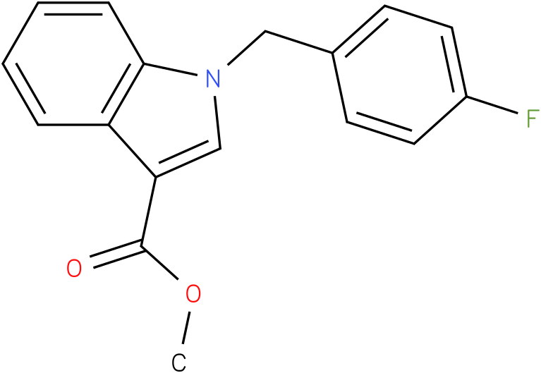 1H-INDOLE-3-CARBOXYLIC ACID,1-[(4-FLUOROPHENYL)METHYL]-,METHYL ESTER