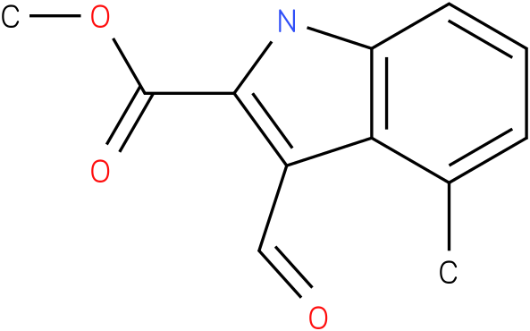 1H-INDOLE-2-CARBOXYLIC ACID,3-FORMYL-4-METHYL-,METHYL ESTER