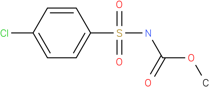 CARBAMIC ACID,N-[(4-CHLOROPHENYL)SULFONYL]-,METHYL ESTER