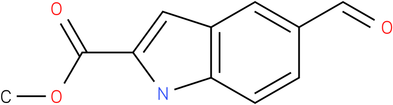 1H-INDOLE-2-CARBOXYLIC ACID,5-FORMYL-,METHYL ESTER