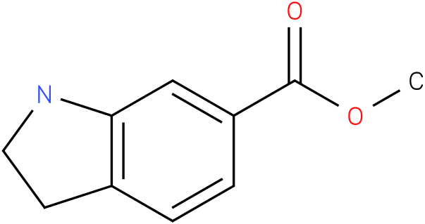 1H-INDOLE-6-CARBOXYLIC ACID,2,3-DIHYDRO-,METHYL ESTER