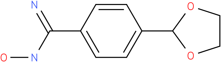 4-(1,3-DIOXOLAN-2-YL)-N-HYDROXYBENZENECARBOXIMIDAMIDE
