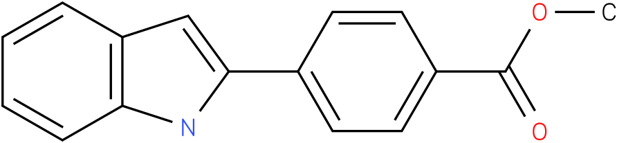 Benzoic acid,4-(1H-indol-2-yl)-,methyl ester