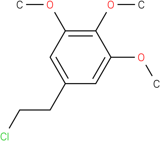 5-(2-chloroethyl)-1,2,3-trimethoxybenzene