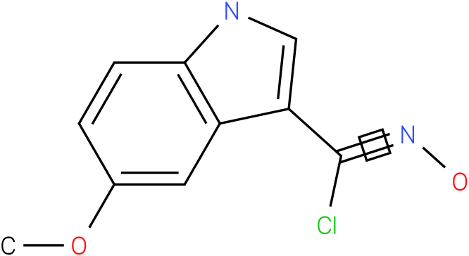 5-METHOXY-1H-INDOLE-3-CARBOXIMIDOYL CHLORIDE,N-HYDROXY
