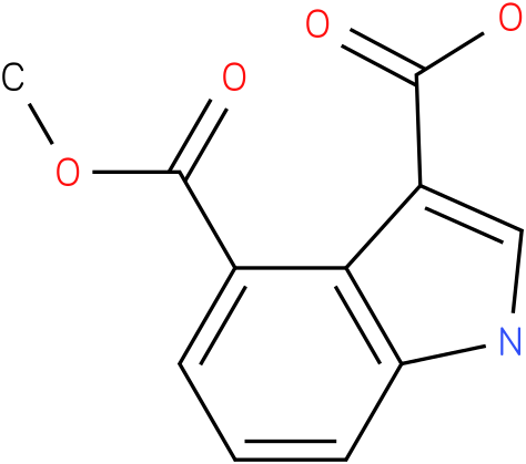 1H-INDOLE-3,4-DICARBOXYLIC ACID,4-METHYL ESTER