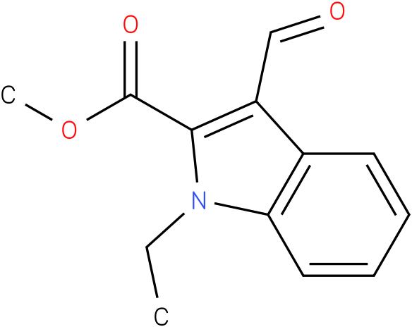 1H-INDOLE-2-CARBOXYLIC ACID,1-ETHYL-3-FORMYL-,METHYL ESTER