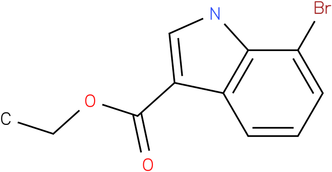 1H-INDOLE-3-CARBOXYLIC ACID,7-BROMO-,ETHYL ESTER