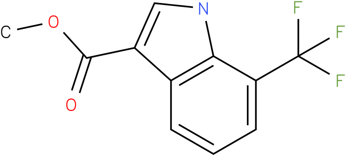 1H-INDOLE-3-CARBOXYLIC ACID,7-(TRIFLUOROMETHYL)-,METHYL ESTER