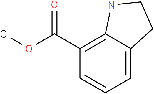 1H-INDOLE-7-CARBOXYLIC ACID,2,3-DIHYDRO-,METHYL ESTER