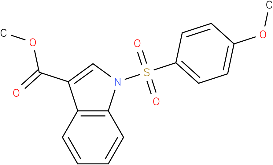 1H-INDOLE-3-CARBOXYLIC ACID,1-[(4-METHOXYPHENYL)SULFONYL]-,METHYL ESTER